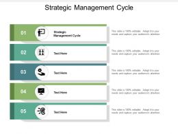 Strategic Management Cycle Ppt Powerpoint Presentation Gallery Example Introduction Cpb