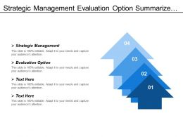 Strategic Management Evaluation Option Summarize Finding Swot Analysis