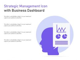 Strategic Management Icon With Business Dashboard