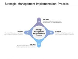 Strategic Management Implementation Process Ppt Powerpoint Presentation Icon Cpb