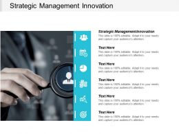 Strategic Management Innovation Ppt Powerpoint Presentation Icon Brochure Cpb