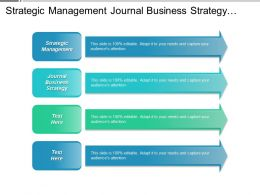 Strategic Management Journal Business Strategy Strategic Management Leadership Cpb