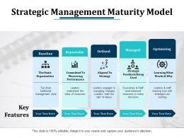 Strategic Management Maturity Model Ppt Pictures Design Templates