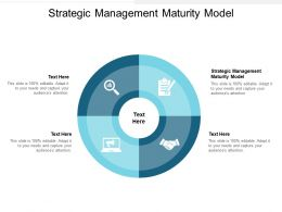Strategic Management Maturity Model Ppt Powerpoint Presentation Model Icons Cpb