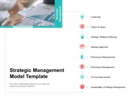 Strategic Management Model Template Stages Of Strategic Management Maturity Model Ppt File