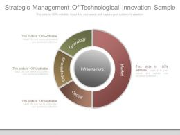 Strategic Management Of Technological Innovation Sample