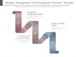 Strategic Management Of Technological Innovation Template