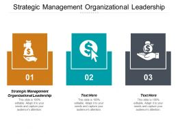 Strategic Management Organizational Leadership Ppt Powerpoint Presentation Pictures Cpb