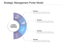 Strategic Management Porter Model Ppt Powerpoint Presentation Professional Information Cpb