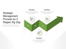 Strategic Management Process By 3 Stages Zig Zag