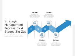 Strategic Management Process By 4 Stages Zig Zag