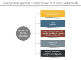 Strategic Management Process Powerpoint Slide Backgrounds