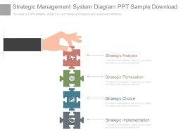 Strategic Management System Diagram Ppt Sample Download
