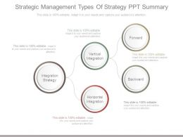 Strategic Management Types Of Strategy Ppt Summary
