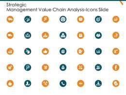 Strategic Management Value Chain Analysis Icons Slide Ppt Themes