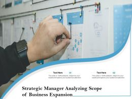 Strategic Manager Analyzing Scope Of Business Expansion