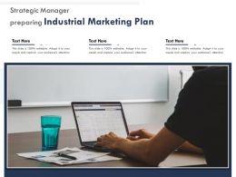 Strategic Manager Preparing Industrial Marketing Plan