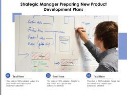 Strategic Manager Preparing New Product Development Plans