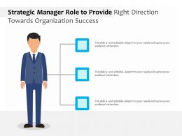 Strategic Manager Role To Provide Right Direction Towards Organization Success