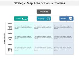 Strategic Map Area Of Focus Priorities