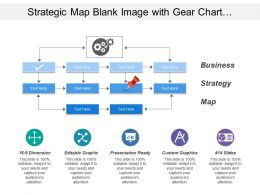 Strategic Map Blank Image With Gear Chart And Arrow Icons