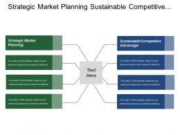 Strategic Market Planning Sustainable Competitive Advantage Sales Revenue