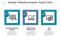 Strategic Marketing Analysis Supply Chain Management Planning Scheduling Cpb