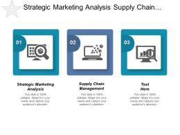 Strategic Marketing Analysis Supply Chain Management Planning Scheduling Cpb