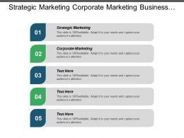 Strategic Marketing Corporate Marketing Business Performance Metrics Strategic Management Cpb