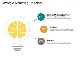 Strategic Marketing Decisions Ppt Powerpoint Presentation File Smartart Cpb