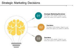 Strategic Marketing Decisions Ppt Powerpoint Presentation File Smartart Cpb