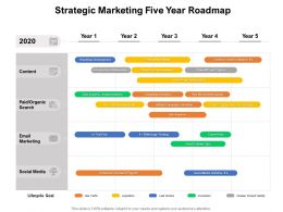 Strategic Marketing Five Year Roadmap