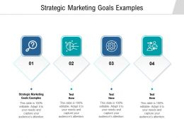 Strategic Marketing Goals Examples Ppt Powerpoint Presentation File Design Ideas Cpb