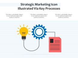Strategic Marketing Icon Illustrated Via Key Processes