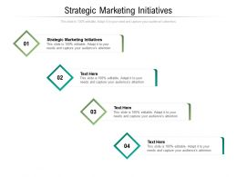 Strategic Marketing Initiatives Ppt Powerpoint Presentation Pictures Templates Cpb
