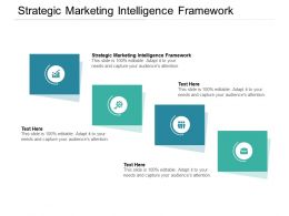 Strategic Marketing Intelligence Framework Ppt Powerpoint Presentation Pictures Cpb