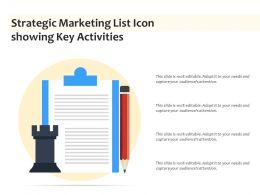 Strategic Marketing List Icon Showing Key Activities
