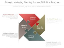 Strategic Marketing Planning Process Ppt Slide Template