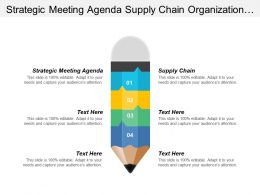 Strategic Meeting Agenda Supply Chain Organization Mission Vision Cpb