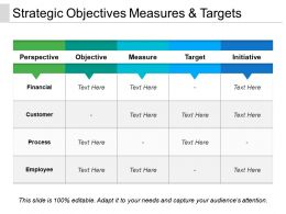Strategic Objectives Measures And Targets