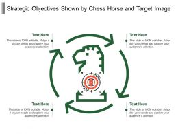 Strategic Objectives Shown By Chess Horse And Target Image