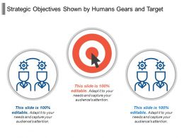Strategic Objectives Shown By Humans Gears And Target