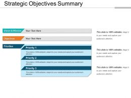 Strategic Objectives Summary
