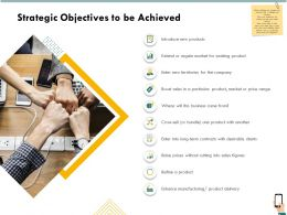 Strategic Objectives To Be Achieved Products Ppt Powerpoint Presentation File Topics