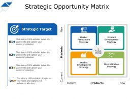Strategic Opportunity Matrix Arket Penetration Strategy Strategic Target
