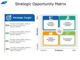 Strategic Opportunity Matrix Arket Penetration Strategy Strategic Target