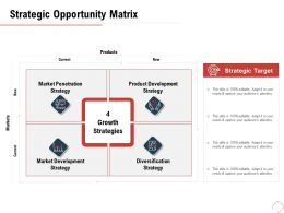 Strategic Opportunity Matrix Penetration M487 Ppt Powerpoint Presentation Styles Summary