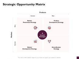 Strategic Opportunity Matrix Products Ppt Powerpoint Presentation Outline Deck