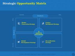 Strategic Opportunity Matrix Strategy Ppt Powerpoint Presentation Ideas
