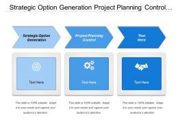 Strategic Option Generation Project Planning Control Product Service